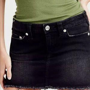 True Religion Mini Skirt Thigh High 28 Black wash